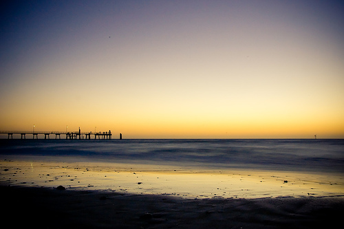 Glenelg ( Adelaide, South Australia ) sunset by Linh_rOm.